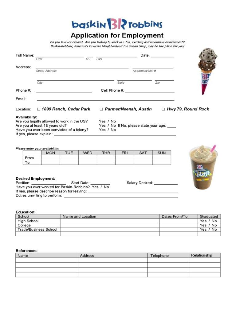 Fast Food Restaurants Job Applications