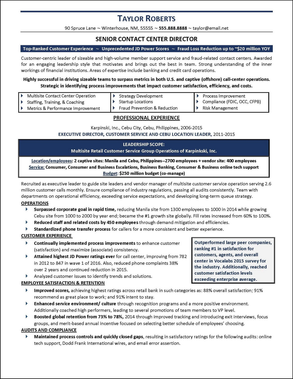 Free Executive Resume Templates Word