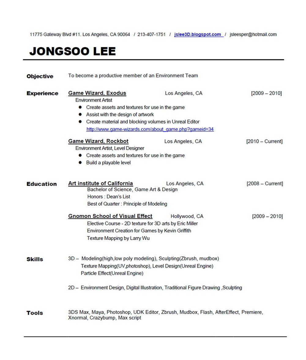 Free Functional Resume Template Word