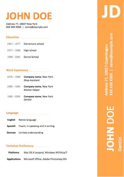 Free Modern Resume Templates Microsoft Word
