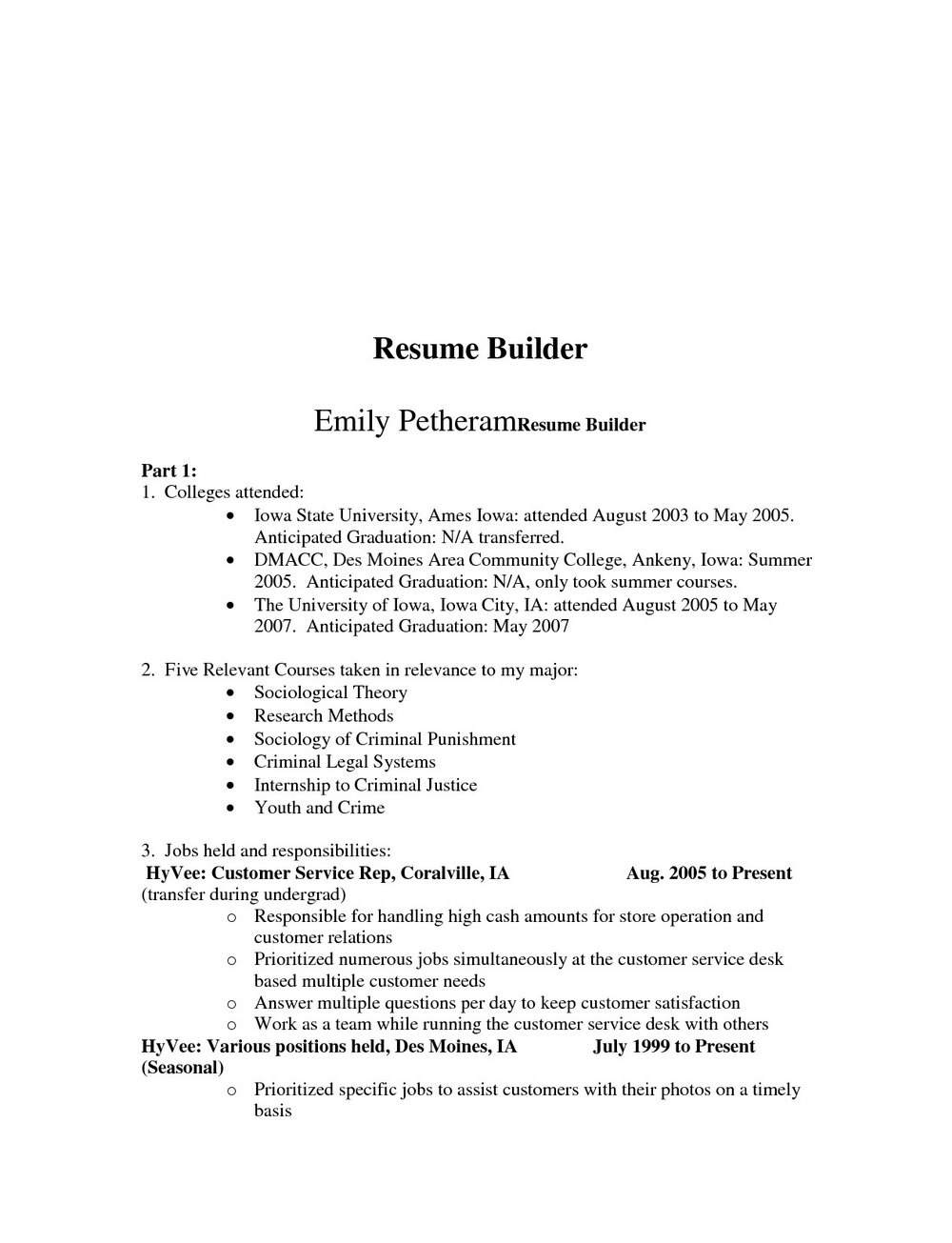 Free Resume Builder App For Android