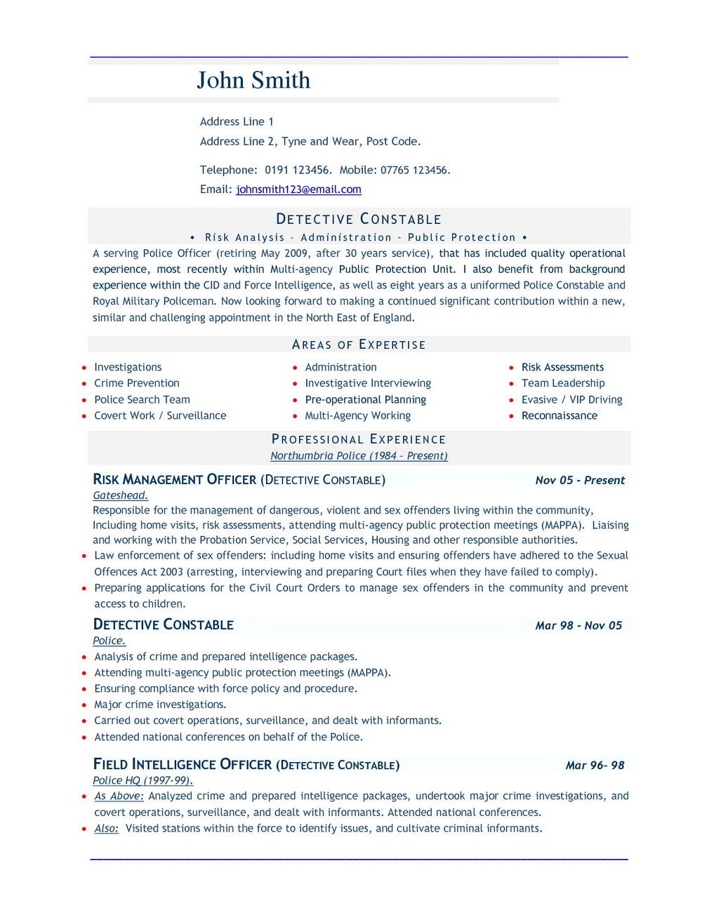Free Resume Templates For Word 2010