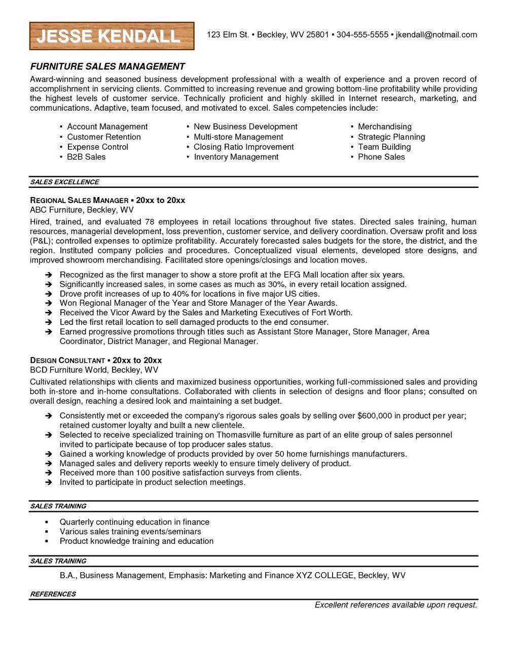 Free Sales Resume Templates