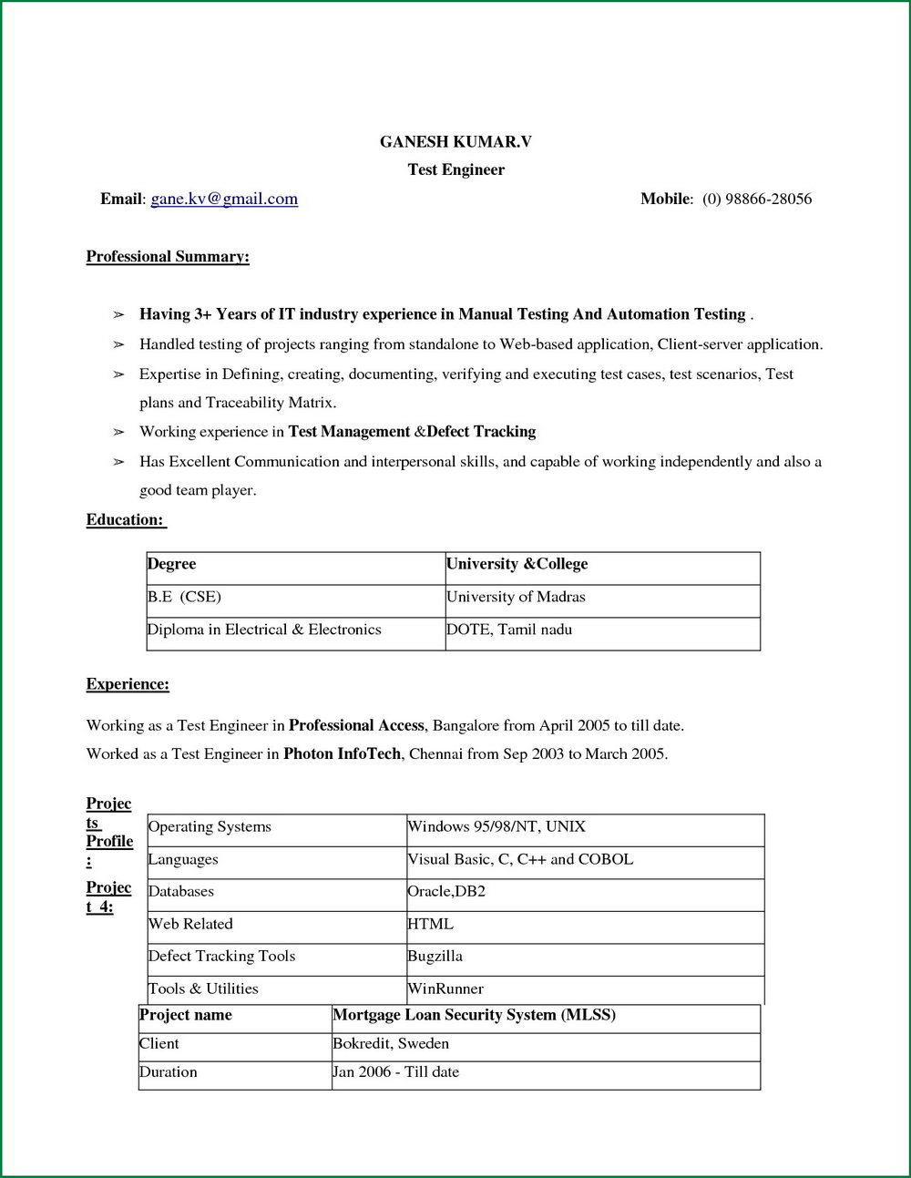 Best Resume Format Download In Ms Word 2007 Best Of Normal Resum