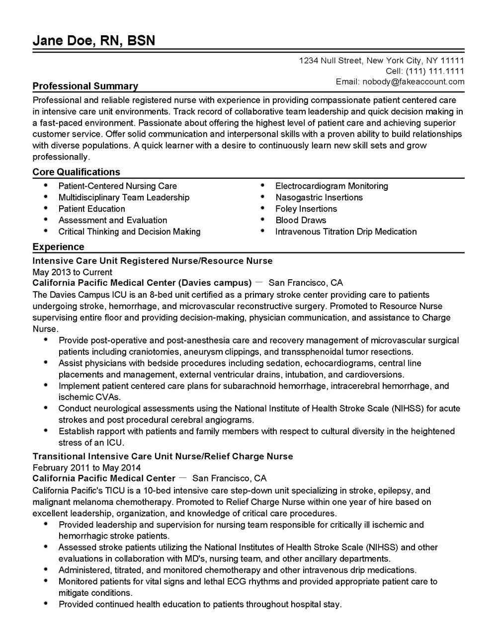 Professional Resume Template Pdf - Templates #12552 | Resume ...