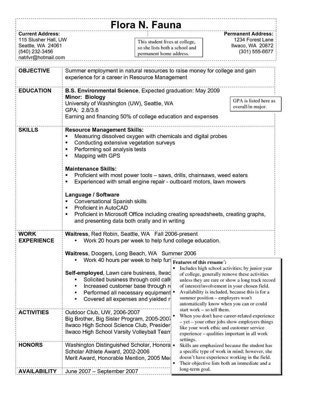 Resume For Hotel Housekeeping Job