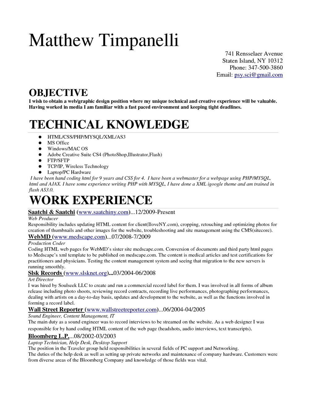 Resume For Medical Coder Fresher