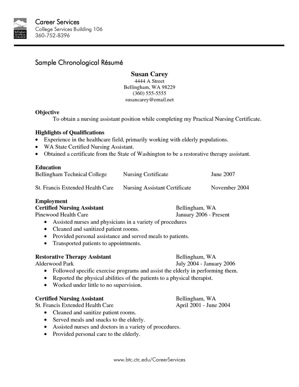 Resume For Registered Nurse With Experience