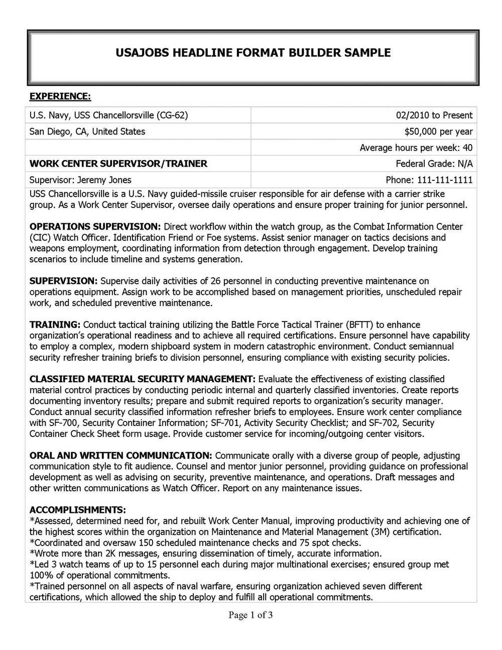 Certified Federal Resume Writer Certification Resumes