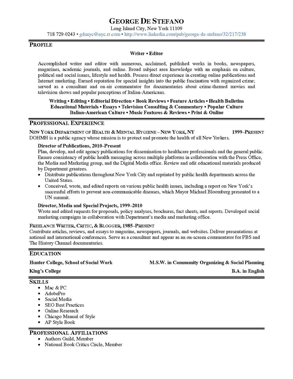 Resume Writing Services Long Island