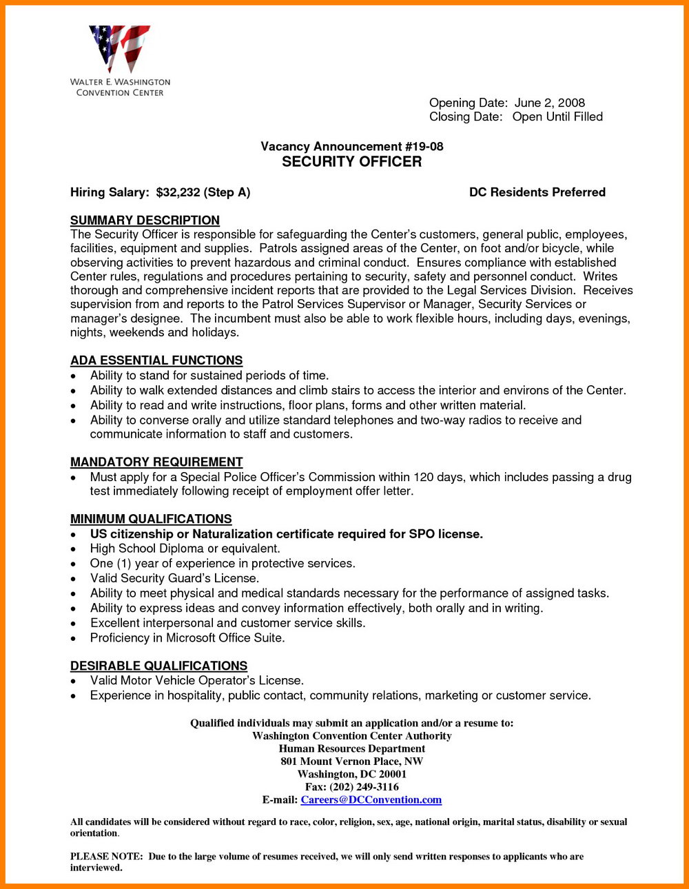 Security Guard Resume Format Download