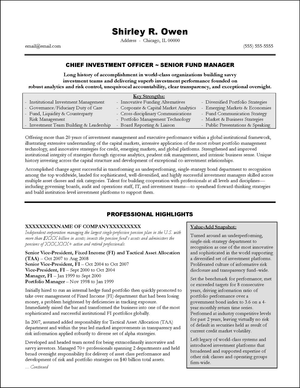 Senior Executive Resume Template - Resumes #MTk5OA | Resume ...