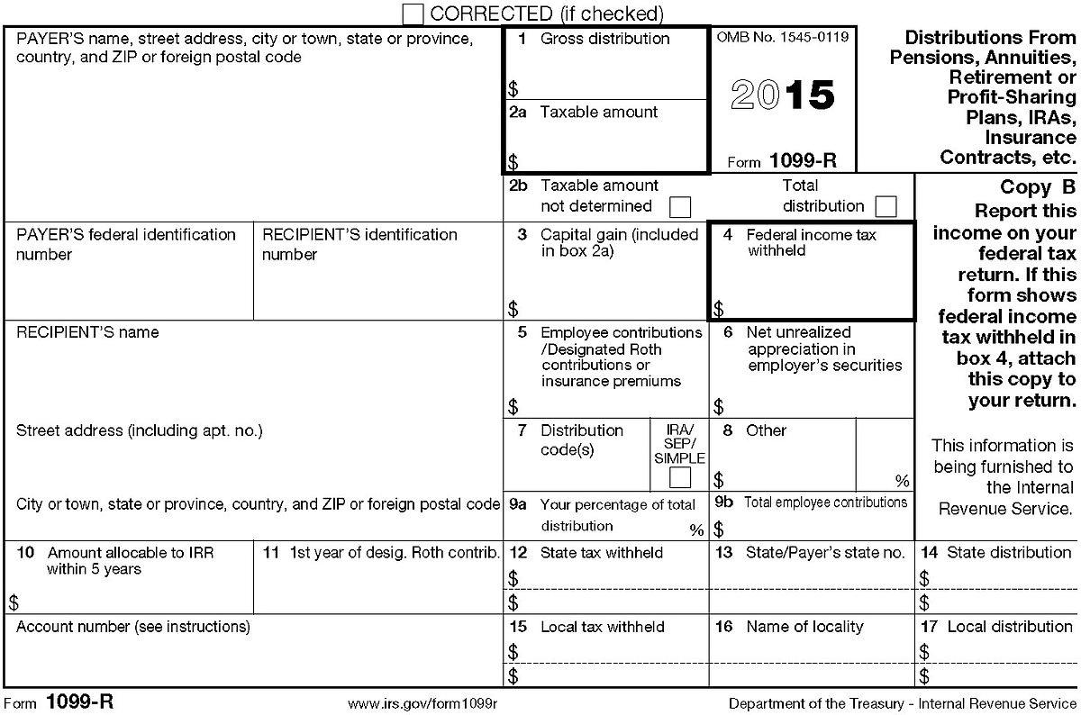 10 99 Tax Form