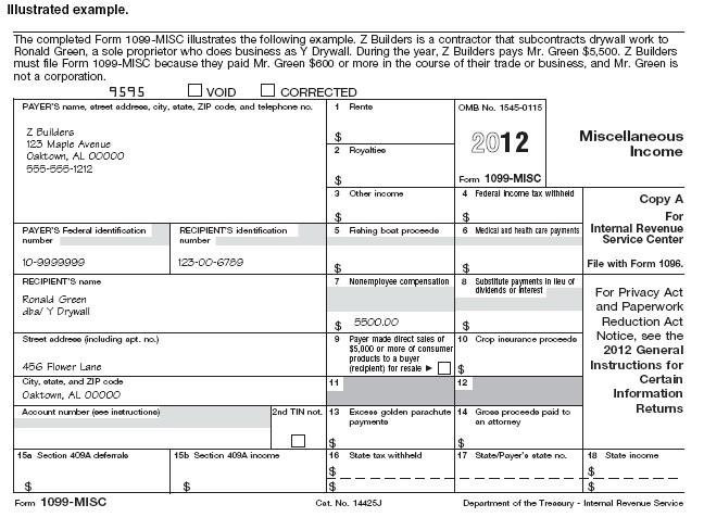 1099 Form Independent Contractor Download