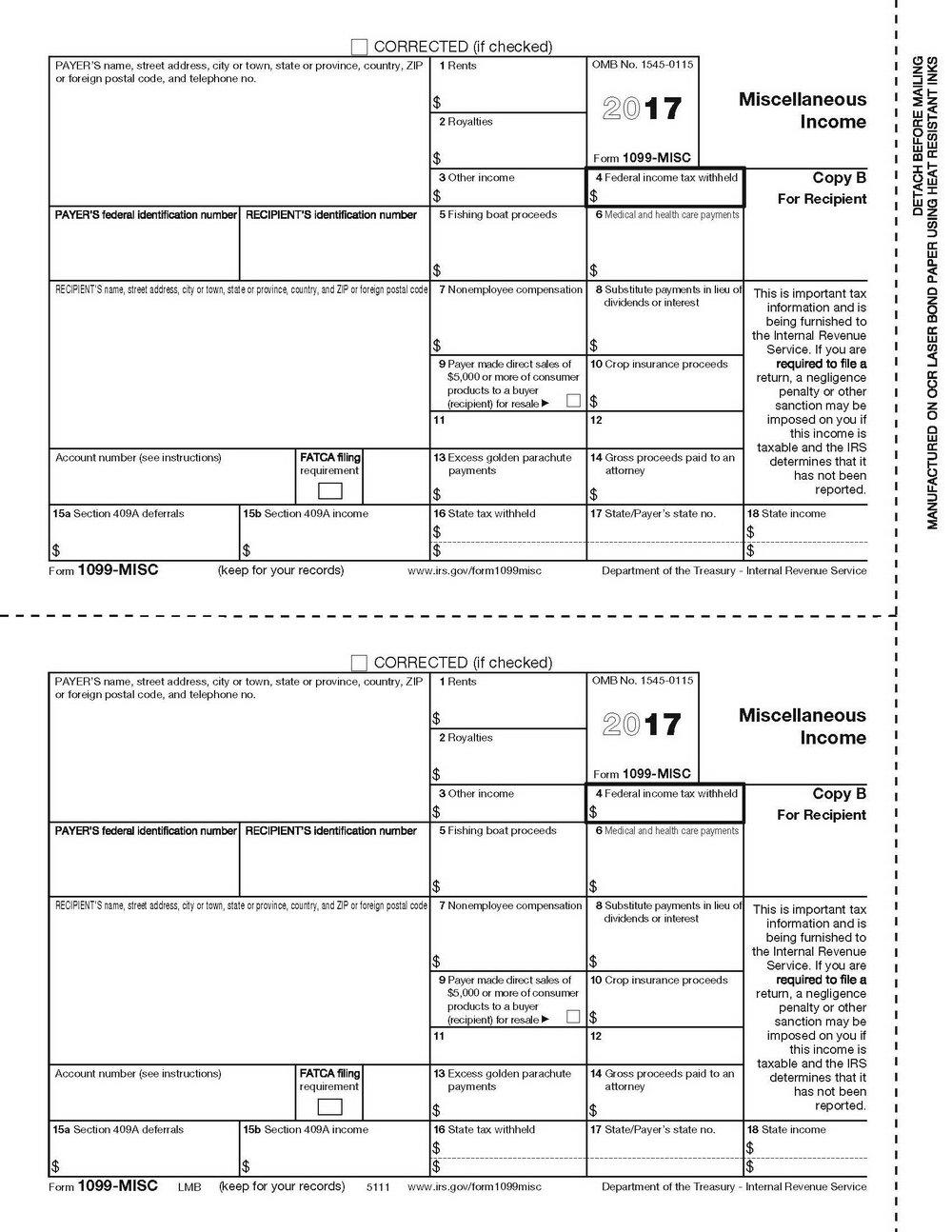 1099 Misc Tax Form 2017