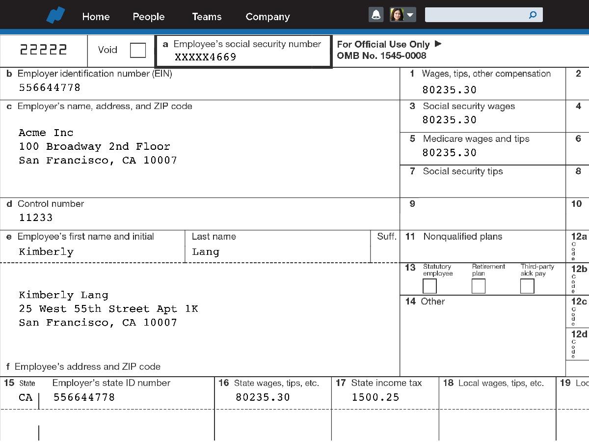 Aca Tax Forms Helper
