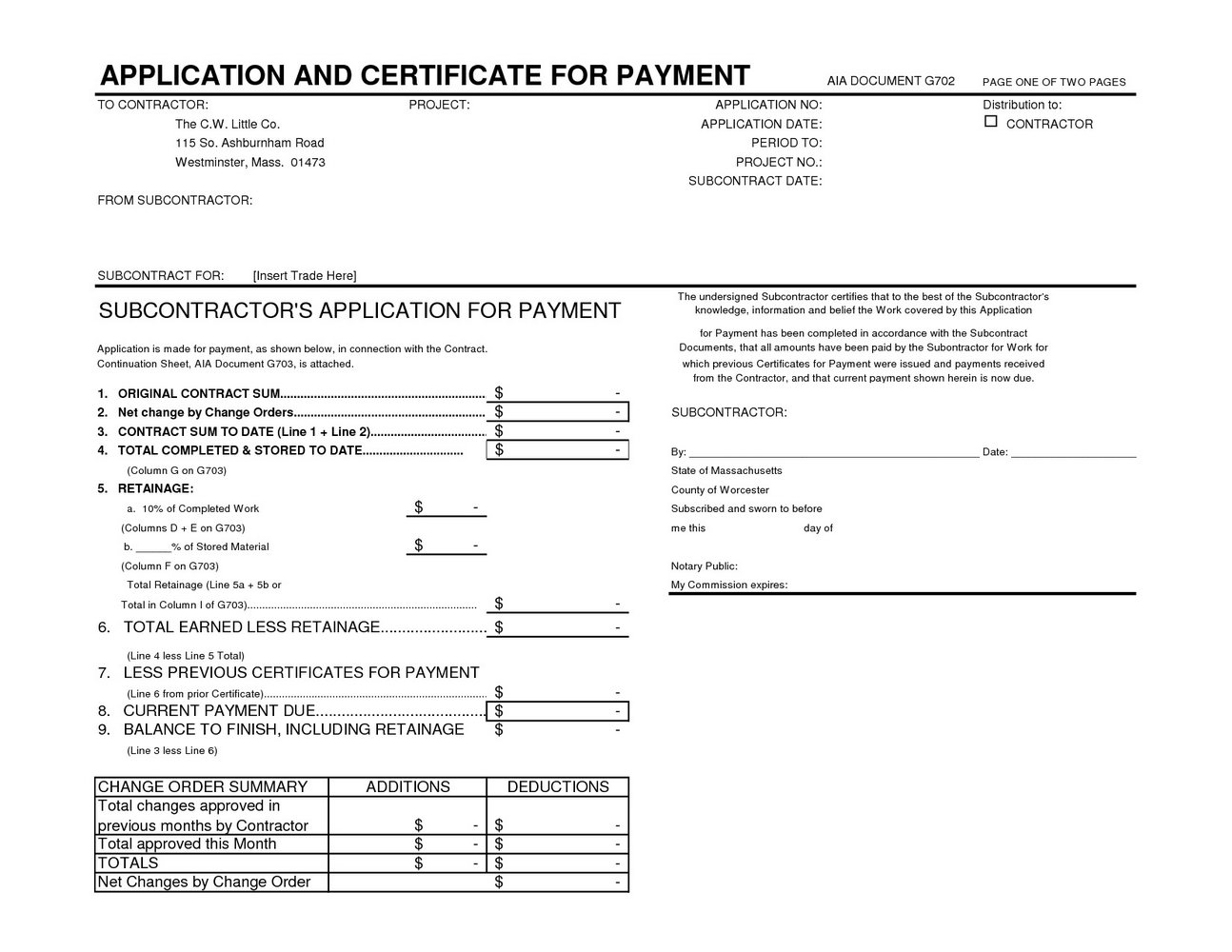 Aia Form G702 Instructions