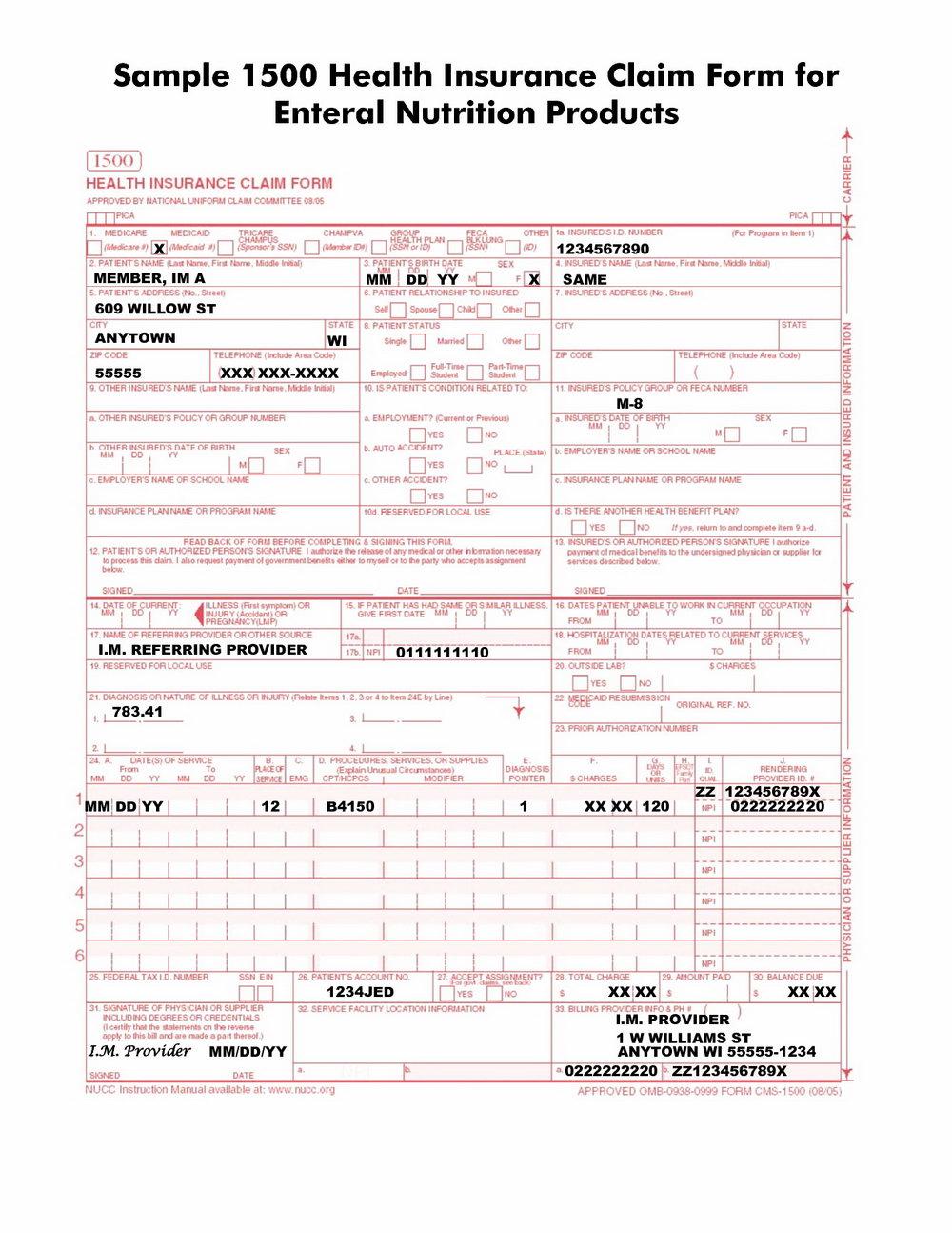 Cms 1500 Form Instructions