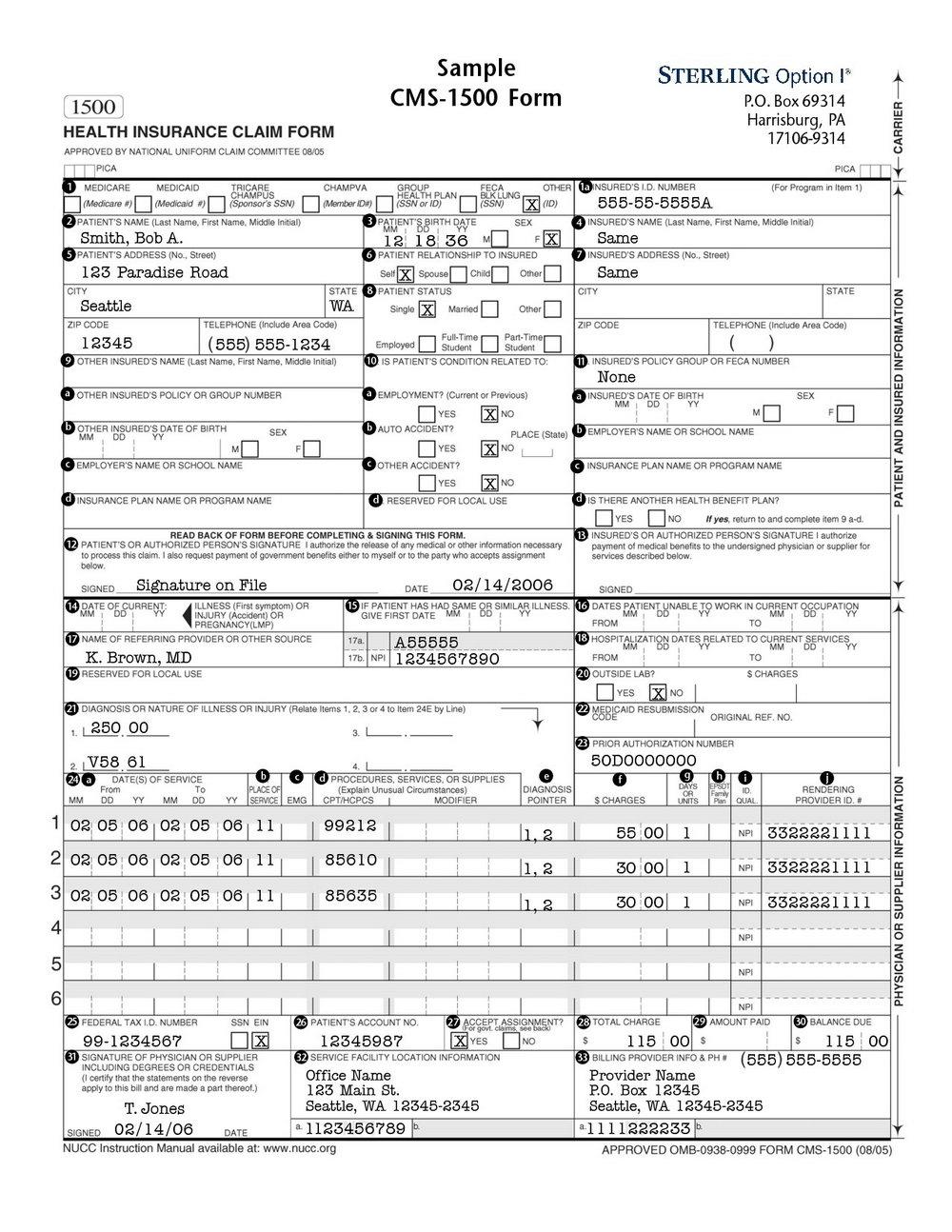 Cms 1500 Form Pdf Download