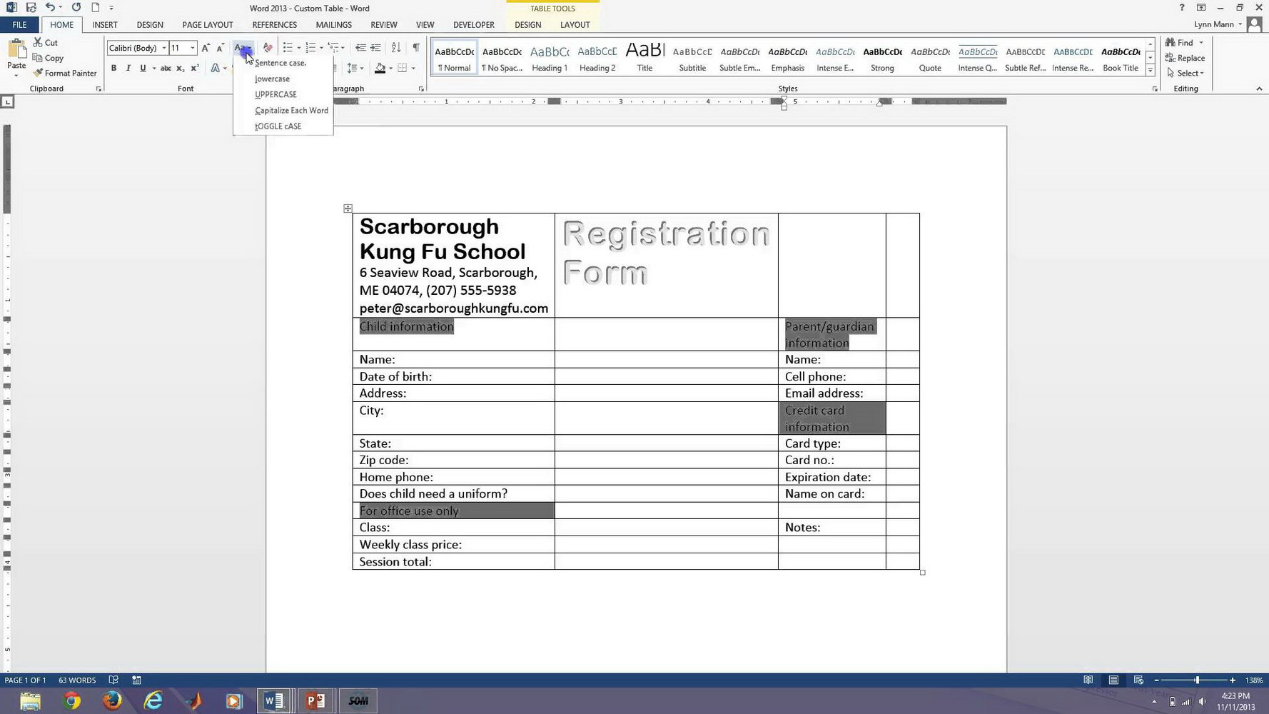 Create A Fillable Form In Word