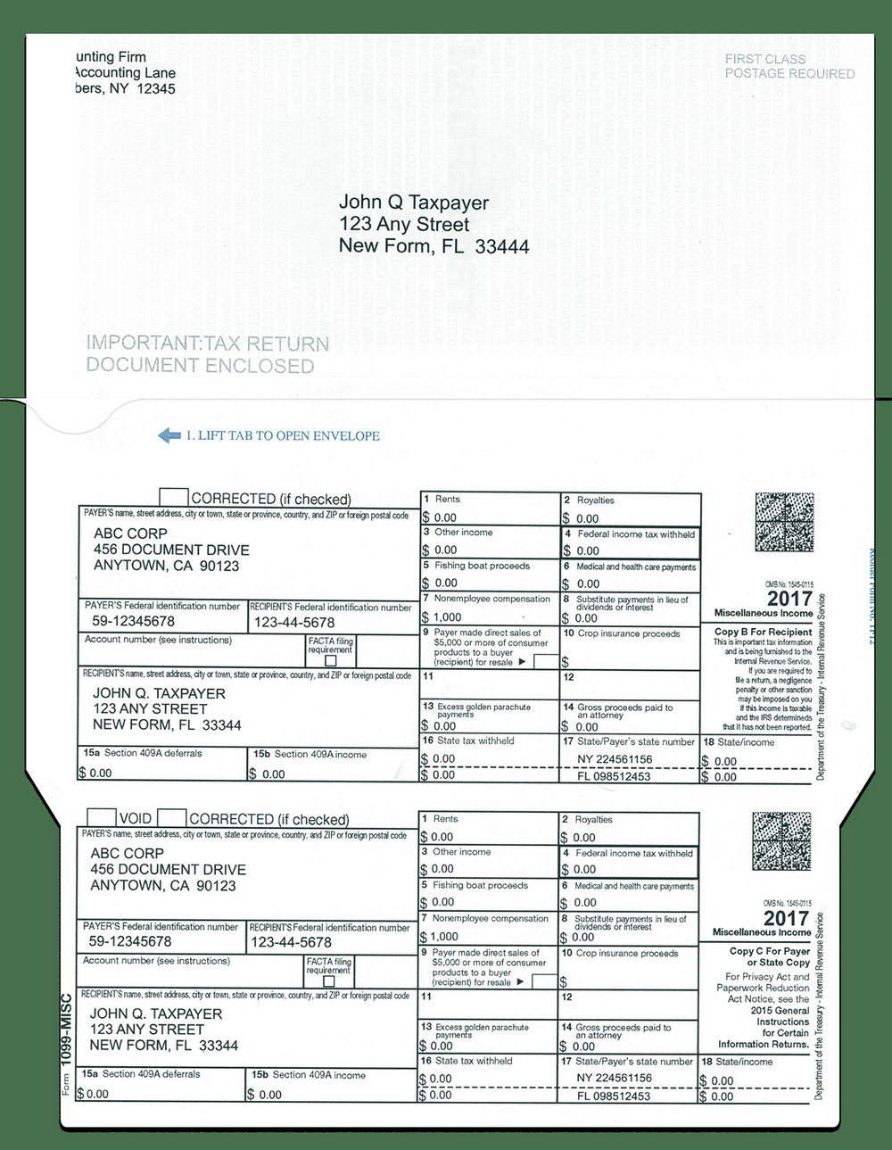 Form 1099 Misc