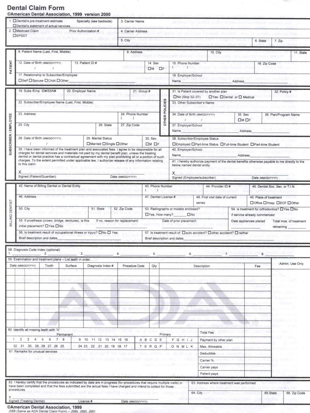 Free Hcfa 1500 Form Download