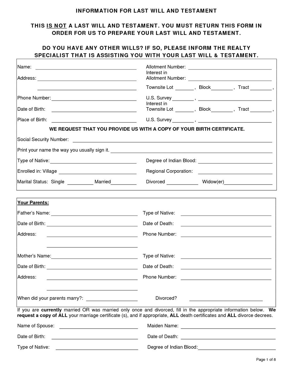 photo about Free Printable Last Will and Testament Blank Forms identify Free of charge Printable Past Will And Testomony Varieties Pdf - Varieties