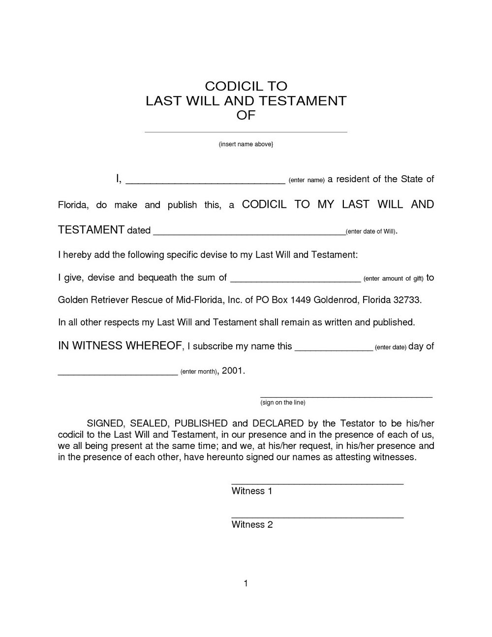 image relating to Free Printable Last Will and Testament Blank Forms referred to as Cost-free Printable Ultimate Will And Testomony Blank Sorts - Varieties