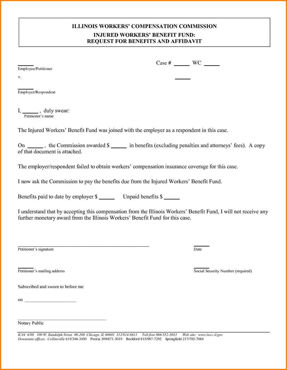 Free Small Estate Affidavit Form Illinois
