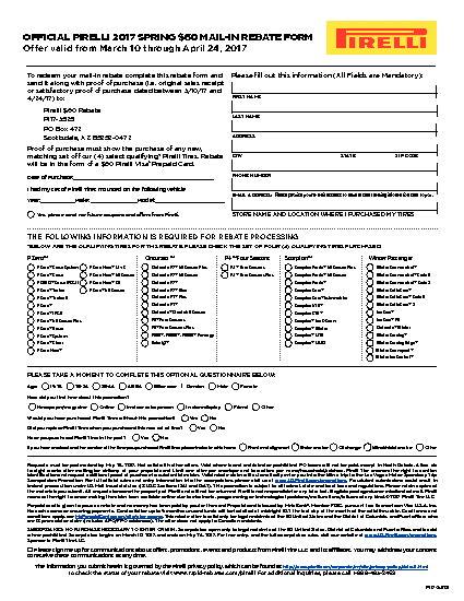 Goodyear Rebate Form Code