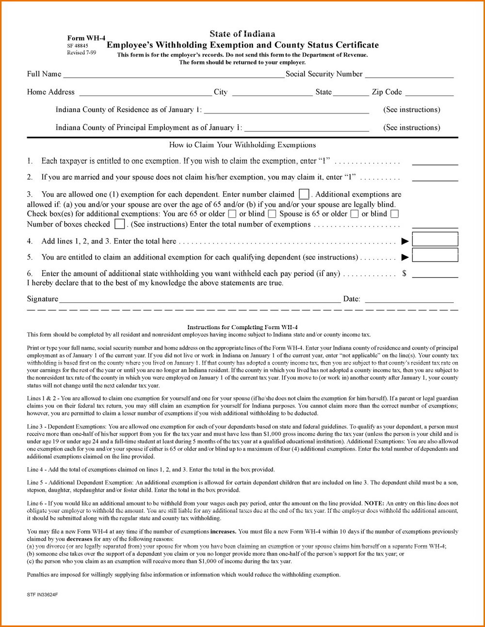 Indiana Divorce Forms