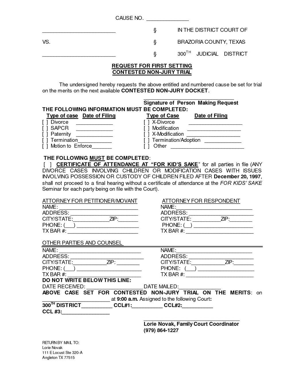 Louisiana Divorce Forms Free