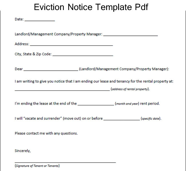 Notice Of Eviction Form Ontario