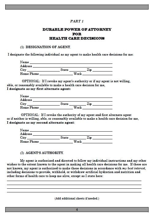 Power Of Attorney Form Pa Free