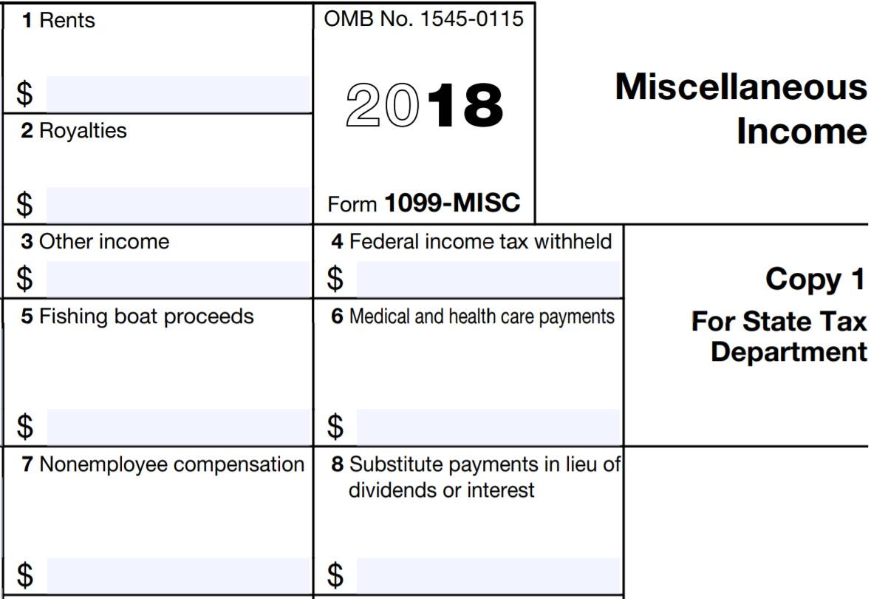Printable 1099 Form 2018