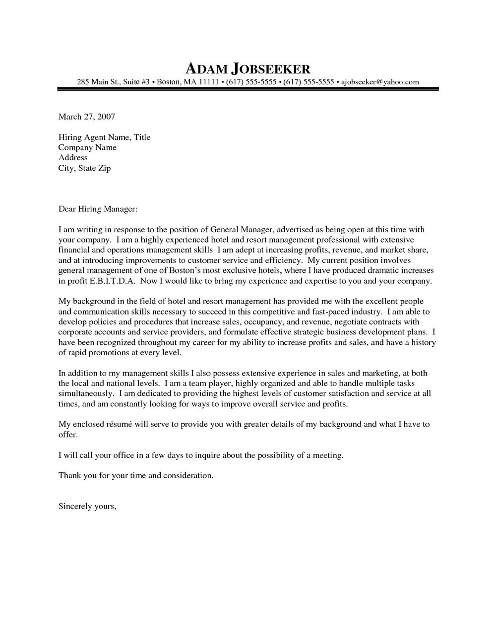 Property Manager Cover Letter Sample Free - Cover Letters ...