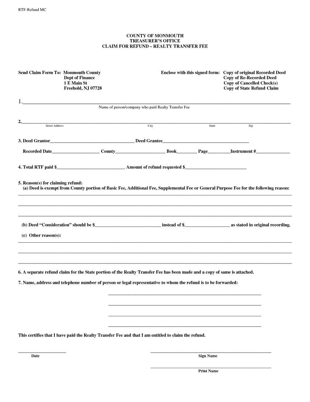 Quitclaim Deed Form Indiana