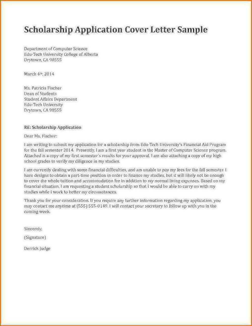 Rental Application Cover Letter Template