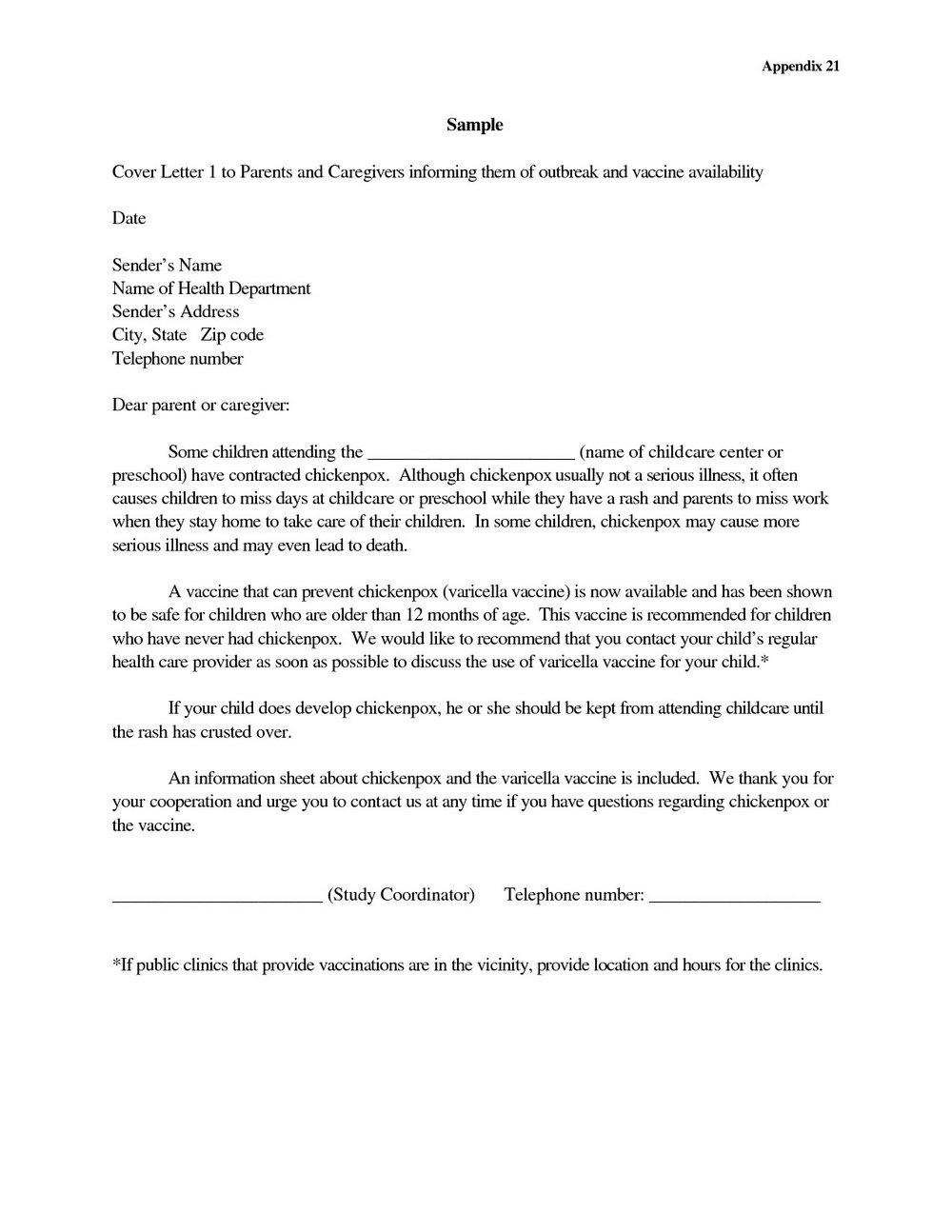 Sample Cover Letter For Caregiver