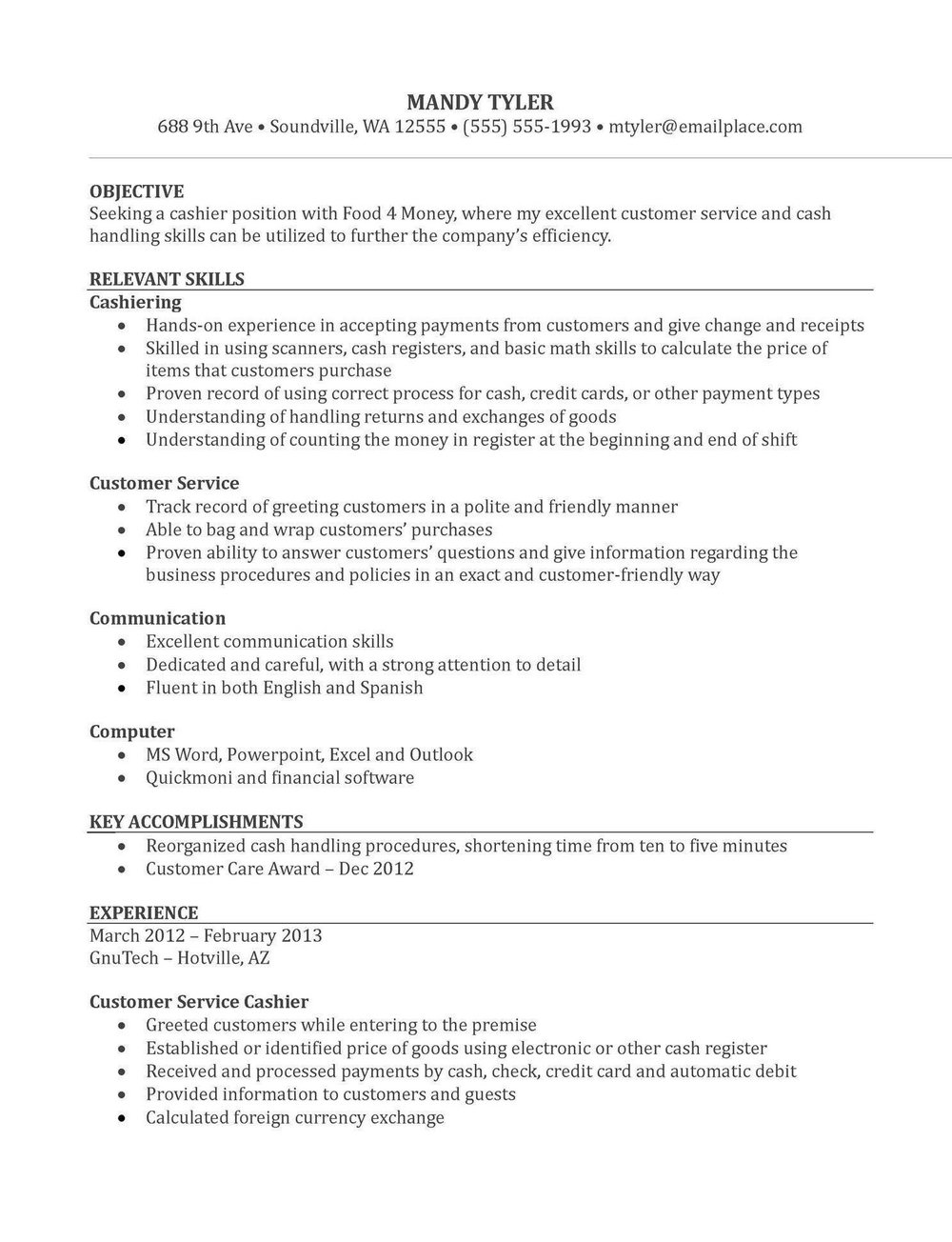 Sample Resumes For Freshers Free Download