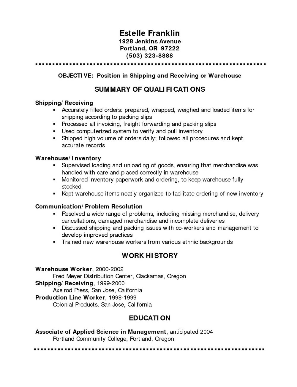 Simple Resume Format Free Download
