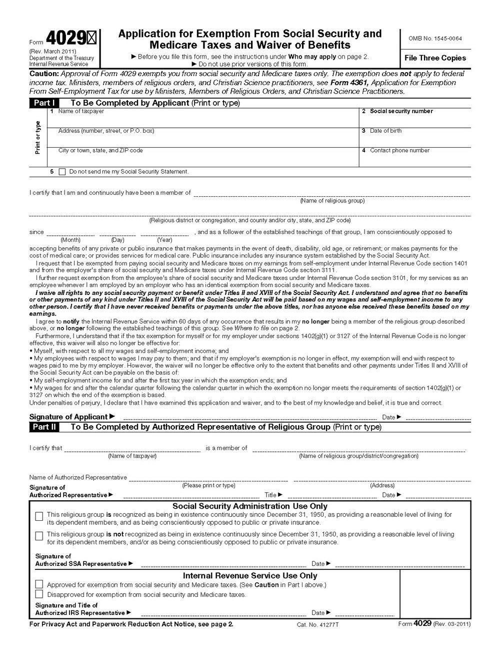 Ssi Application Form 2018