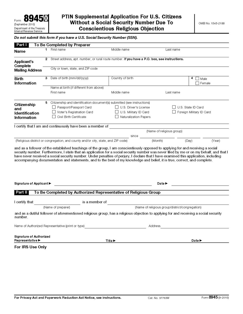 Ssi Application Form For A Child