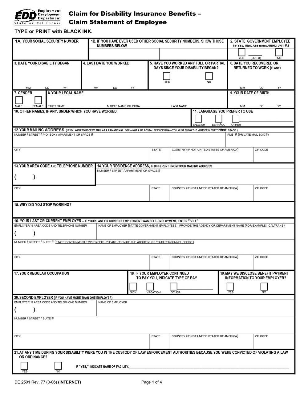 Ssi Application Form Missouri