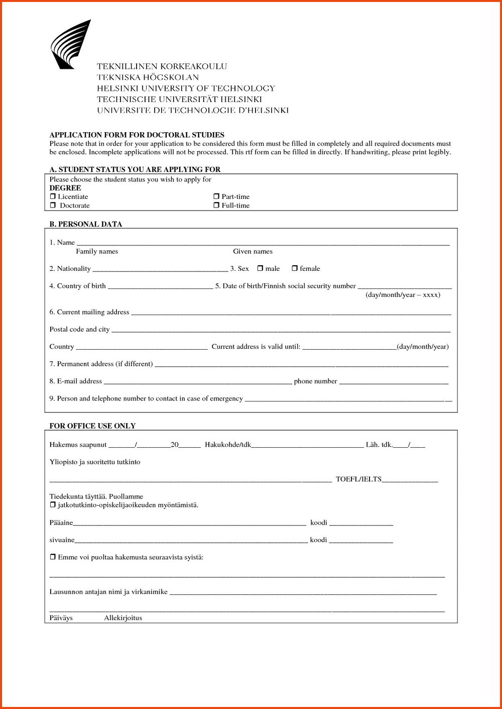 Ssi Application Form Pdf