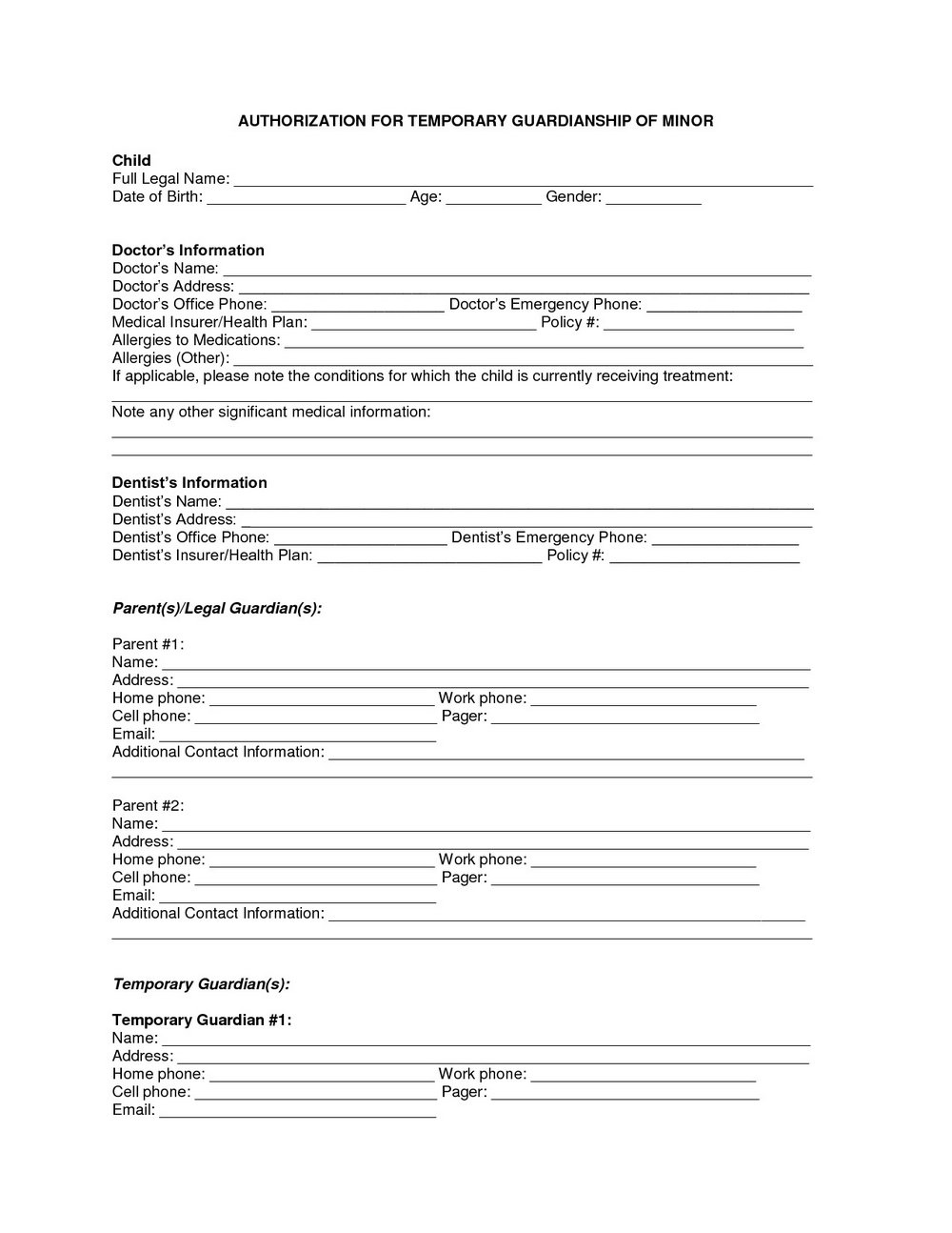picture about Free Printable Temporary Guardianship Form identify Short-term Guardianship Sort Mn - Types #MzIzMg Resume Illustrations
