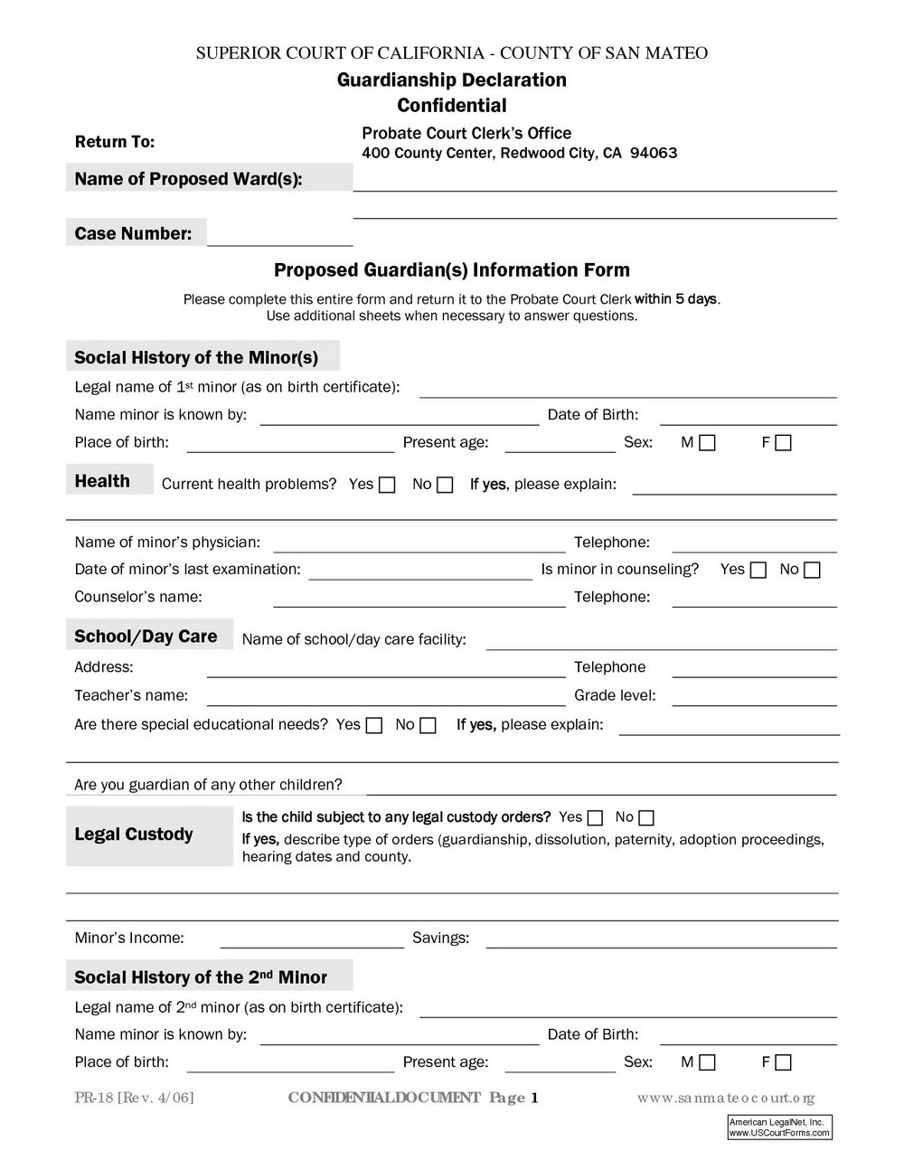 Temporary Guardianship Form Pdf