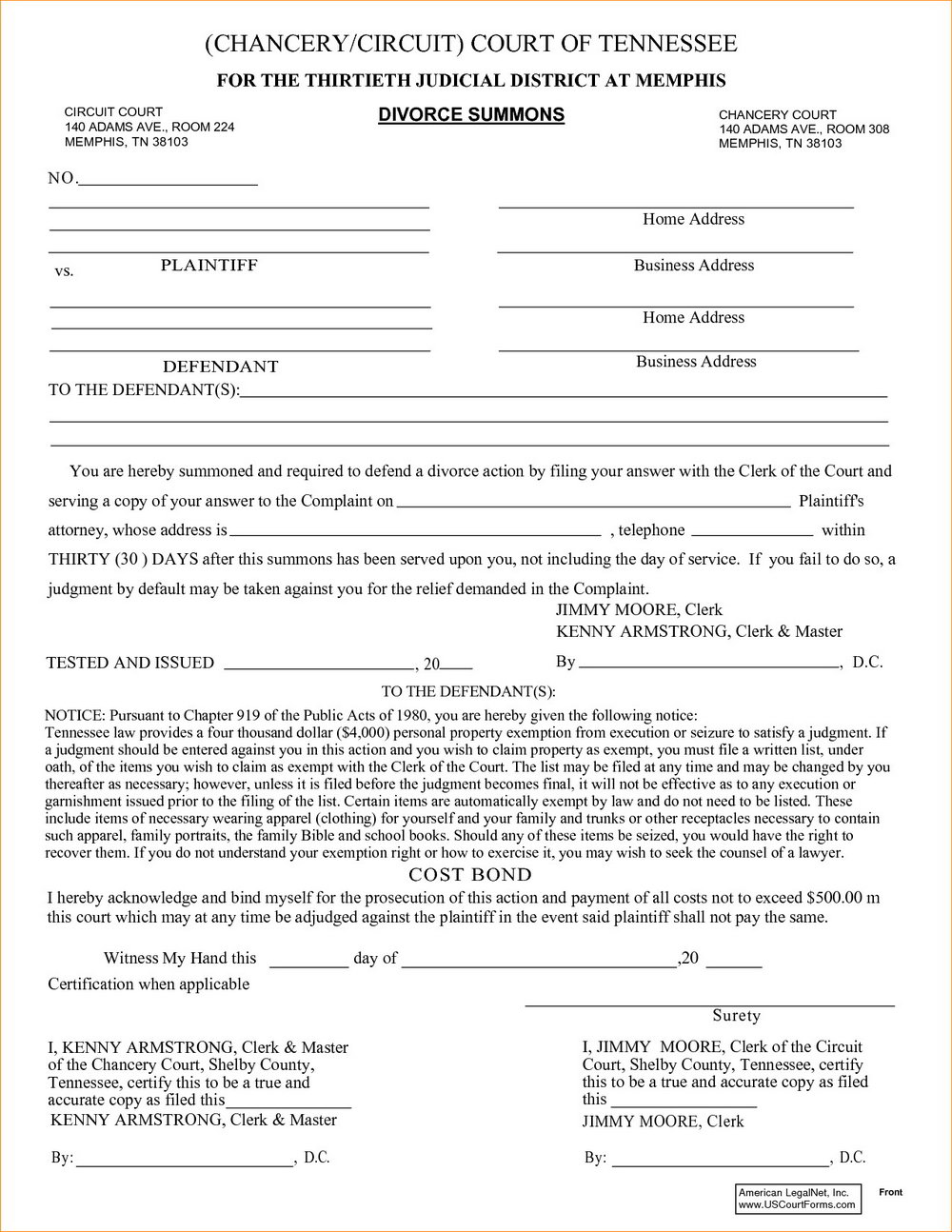 Tn Divorce Forms