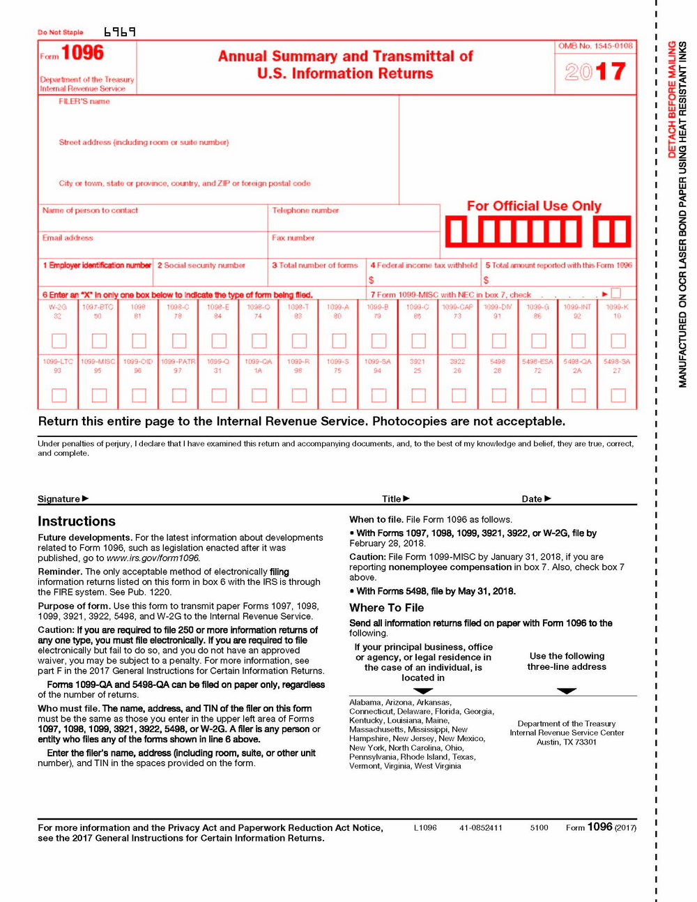 10 99 Tax Form Download