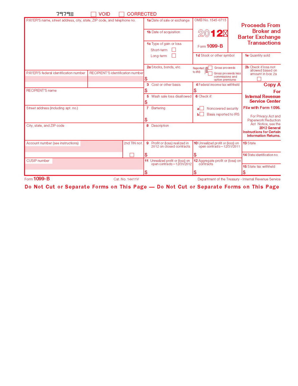 1096 Tax Form Template